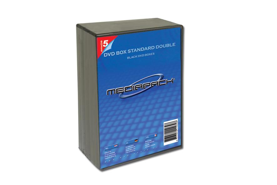 DVD Boxen 2-fach -  5er Pack - MPI  - 14mm - schwarz