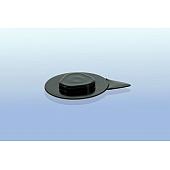 CD Clip rund - selbstklebend - 26mm  - schwarz