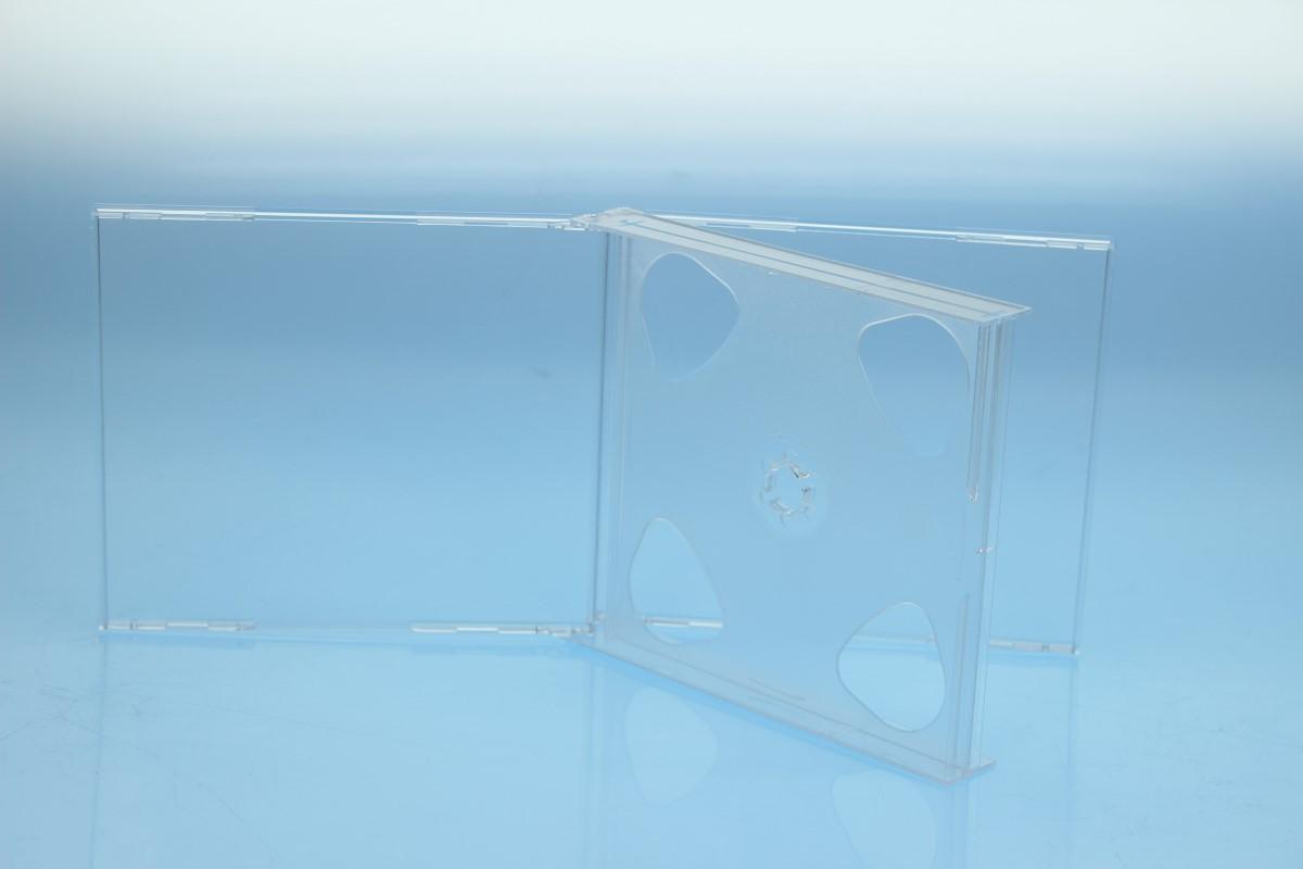 CD Multibox 4er - transparent - bulkware