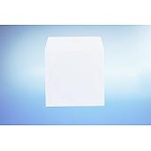 Papierfenstertasche für 1 CD - mit  Klappe (nichtklebend)