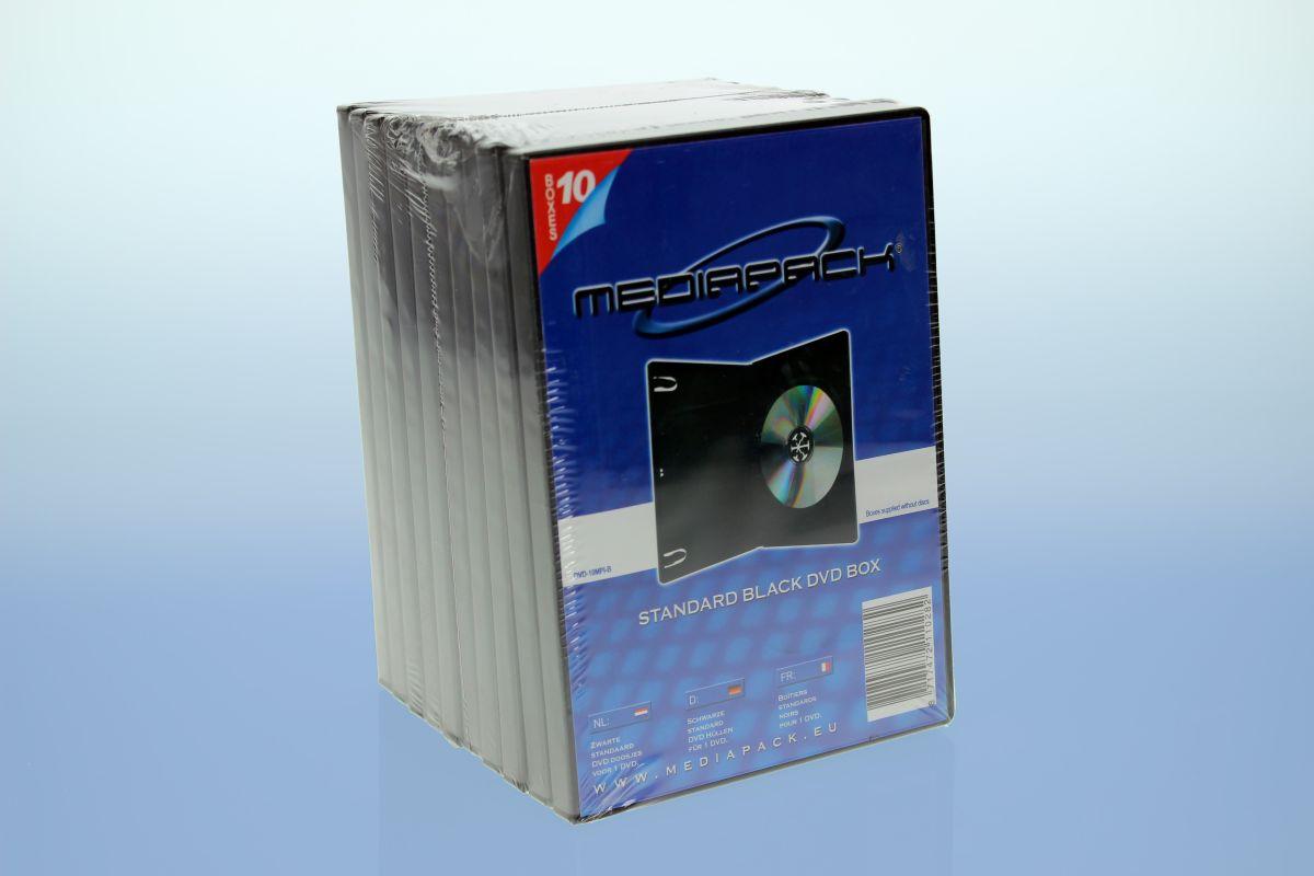 DVD Boxen 10er Pack - MPI - 14mm -  schwarz