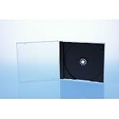 CD Jewelcase für 1 Disc - unzerbrechlich - montiert mit schwarzem Tray