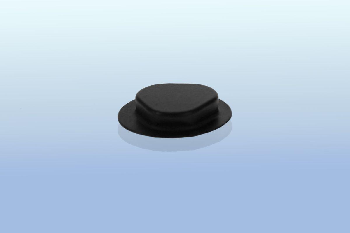 CD Clip rund - selbstklebend - 20mm  - schwarz