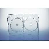 AMARAY DVD Box 1-fach - 14mm - mit  Clip für Tray - transparent - bulk