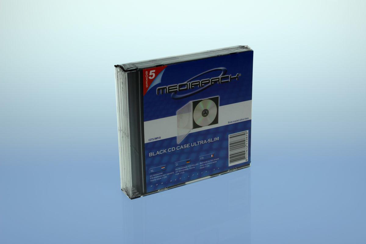 CD Slimcase 5er Pack - MPI - schwarz
