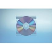Klarsichttasche für 1 Disc - ohne  Klappe - trennahtgeschweißt - mit 2 Klebestreifen