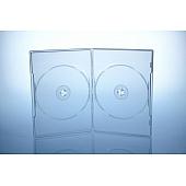 Amaray DVD Box Slimline - 2-fach - 7mm - FOF - transparent - bulkware