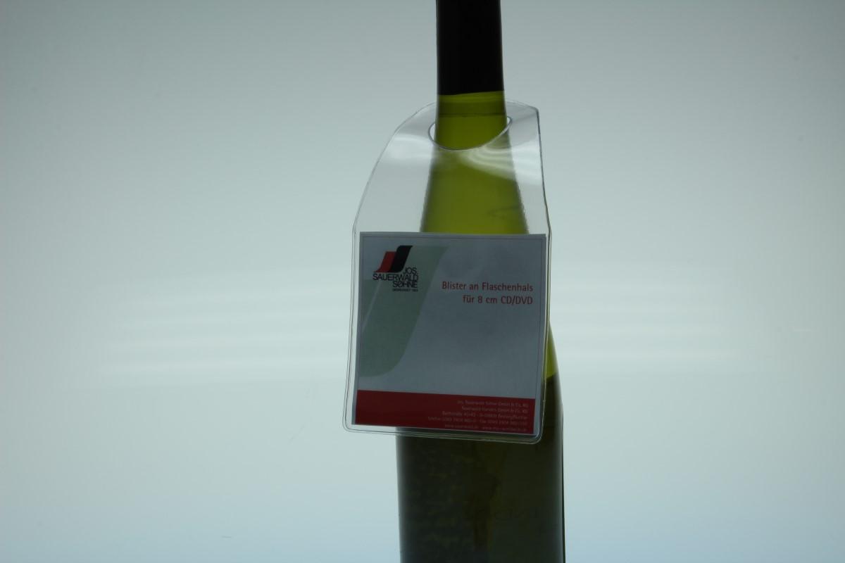 Flaschenhalsanhänger für 8cm CD-Stecktasche - 120my