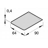 Klarsichttasche für CD-Visitenkarte  (58x84 mm)