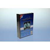 DVD Box 4-fach mit Tray - 14mm - 3er  Pack - schwarz