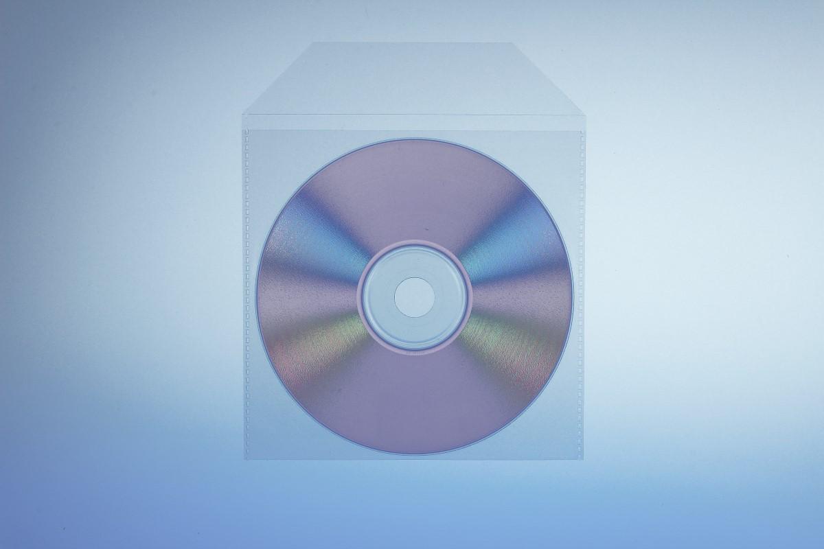 Klarsichttasche für 1 Disc - mit Klappe  - 100er Pack