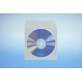 Papierfenstertasche für 1 CD - selbstkl. - mit Klappe (nichtklebend)