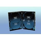 Amaray DVD Box 4-fach (Overlap) - 15mm - schwarz - bulkware