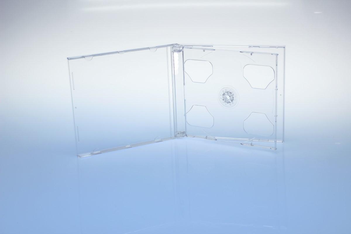 CD Smarttray 2-fach - ohne Logo  - transparent - kartoniert