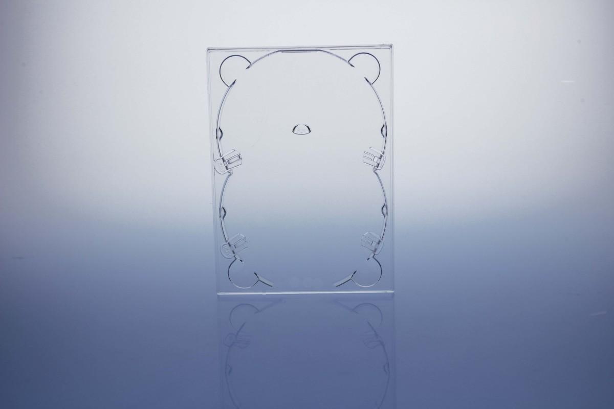 DVD Digitray für 2 Discs - transparent  - bulkware