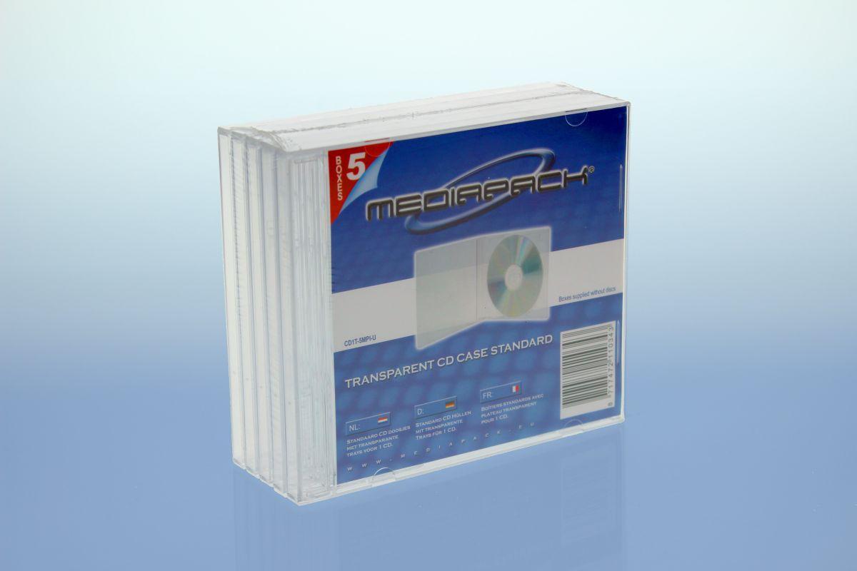 CD Jewelcase 5er Pack - MPI - transparent