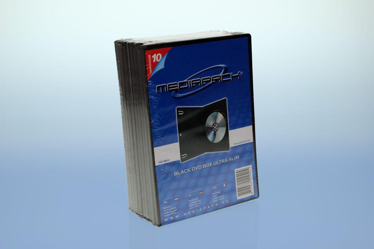 DVD Boxen Slimline -  10er Pack -  MPI - 7mm - schwarz