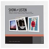 LP Schallplattenrahmen - Vinyl Rahmen - weiß - 4er-Pack