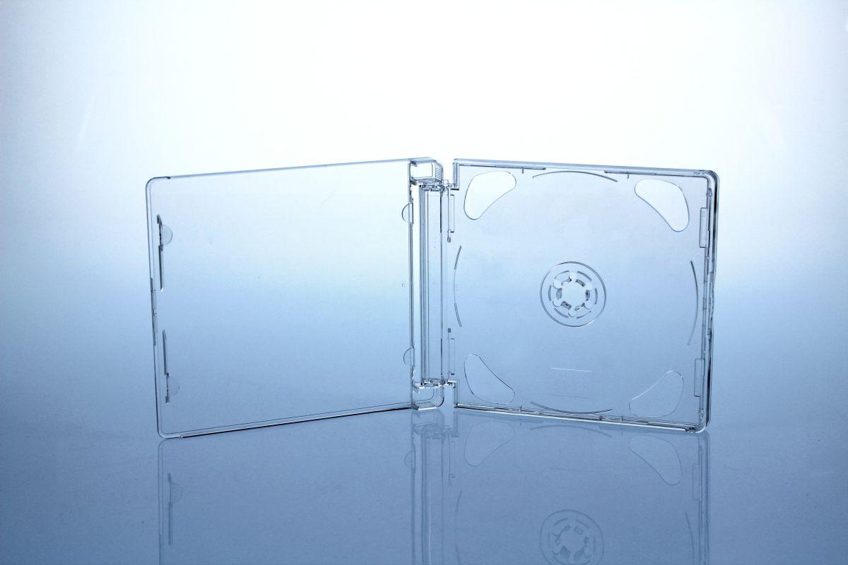 Superjewelbox Standard Size - montiert  mit Fliptray für 2 Discs