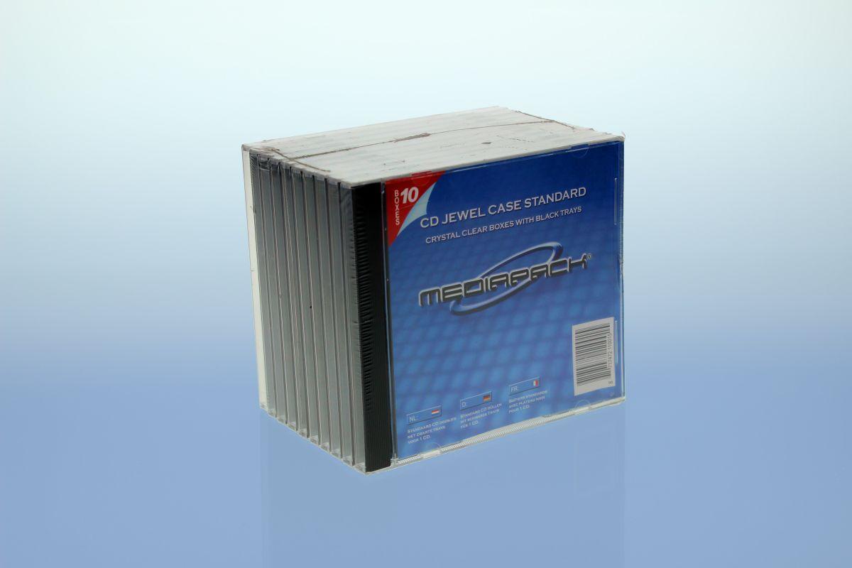 CD Jewelcase 10er Pack - MPI - mit  schwarzem Tray