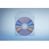 Klarsichttasche für 1 Disc - mit Klappe  - trennahtgeschweißt - 120my