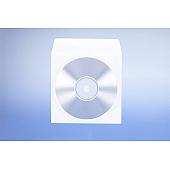Papierfenstertasche für 1 CD - mit  selbstklebender Klappe