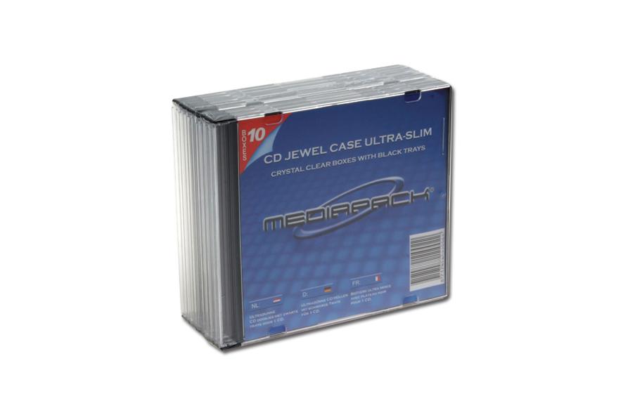 CD Slimcase 10er Pack - MPI - schwarz