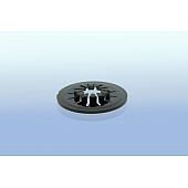 CD Clip / CD Stern selbstklebend -  30mm - schwarz