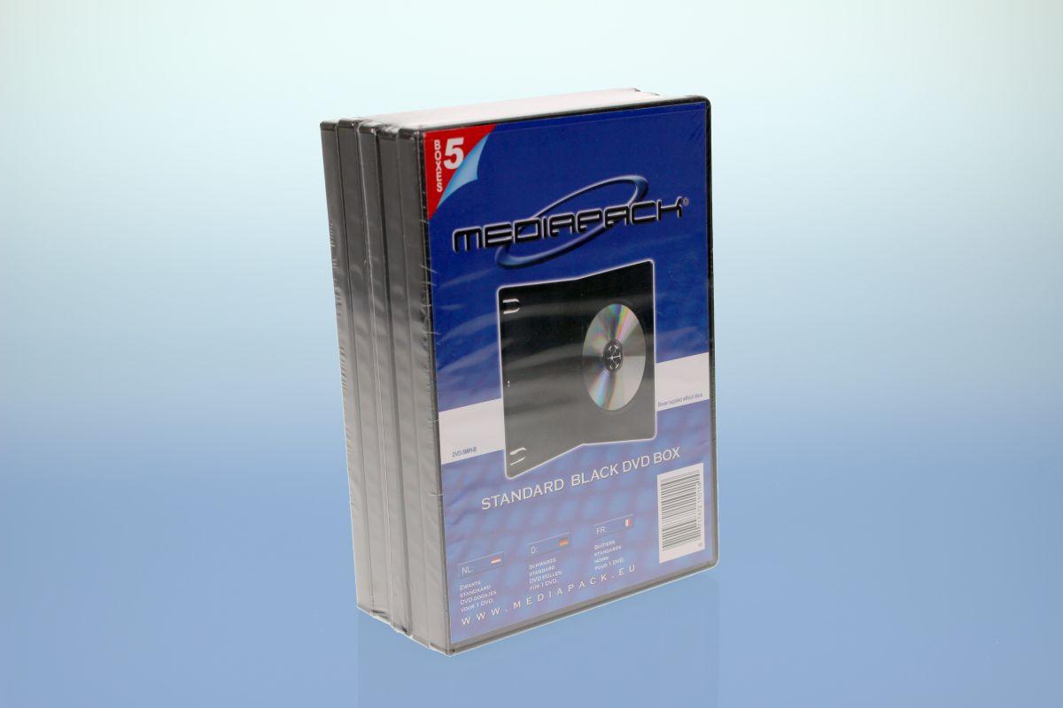 DVD Boxen 5er Pack - MPI - 14mm -  schwarz