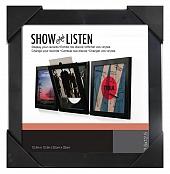 LP Schallplattenrahmen - Vinyl Rahmen - schwarz - 4er-Pack