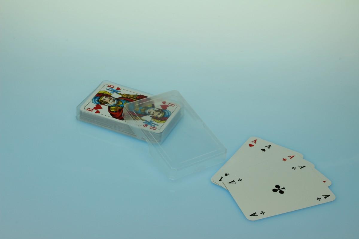 Spielkartenbox /Skatbox - transparent