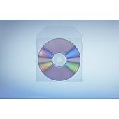 Klarsichttasche für 1 Disc - mit Klappe