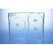 Scanavo Overlap DVD Box 3One - 22mm  - transparent - kartoniert