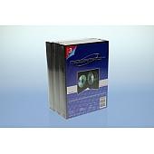 DVD Box 10-fach mit Tray - 35mm -  3er Pack - schwarz