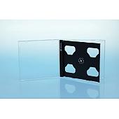 CD Smarttray 2-fach - mit Logo - schwarz - kartoniert