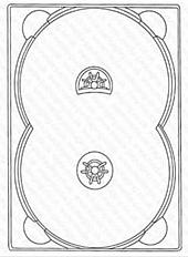 DVD Digitray für 2 Discs - transparent -kartoniert