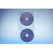 Klarsichttasche für 2 Discs - mit  Abheftrand und Klappe