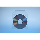Klarsichttasche für 1 Disc - mit selbstklebender Klappe