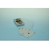 Spielkartenbox Doppelkopf - transparent
