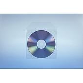 Klarsichttasche für 1 Disc - mit Klappe  und 2 Klebestreifen - 100er Pack