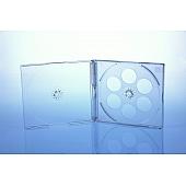 CD Jewelcase für 4 Discs - montiert mit transparentem Tray