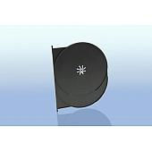 AMARAY DVD Tray für 1 Disc - schwarz glänzend
