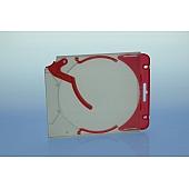 Abheftclip für CD Ejector Case - rot