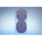 Klarsichttasche für 4 Discs - mit  Abheftrand - ohne Klappe