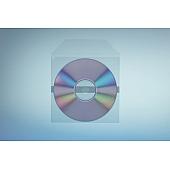 Klarsichttasche für 1 Disc - selbs- klebend (1 Klebestreifen) - mit Klappe