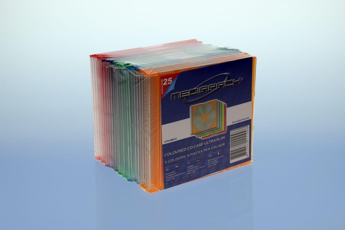 CD Slimcase 25er Pack - MPI - farbig
