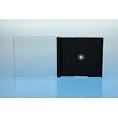 Playstationbox PS klar+Tray schwarz geschl.:143 x 130 x 18mm