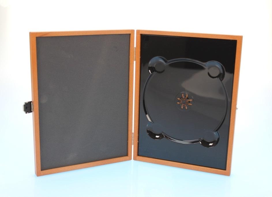 Holzbox / Wooden Media Box für 1 Disc in DVD Größe