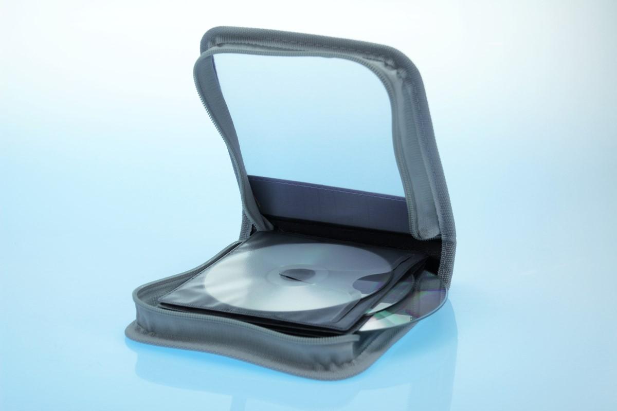 Zipperwallet / CD Tasche für 24 Discs