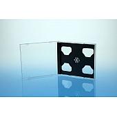 CD Jewelcase für 2 Discs - montiert  mit schwarzem Tray